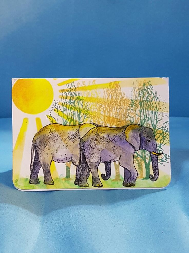 Elephant stamp / stencil..from country crafts