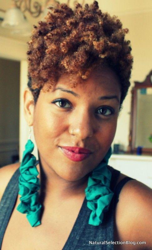 natural hair taper fade women