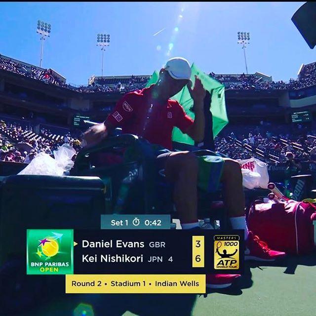 Pinを追加しました!/#indianwells 錦織圭選手2ブレイクで1stセット取った! #GO錦織 #keinishikori #wilson #burn95cv #tennistv #tennis