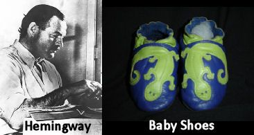 For Sale, Baby Shoes, Never Worn | Quote Investigator