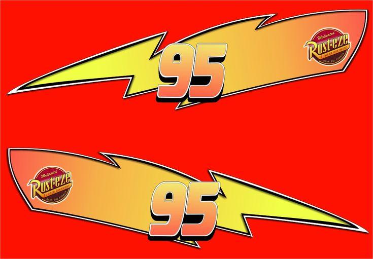 Lightning Mcqueen Rust Eze Logo cakepins.com