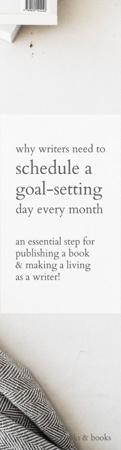 Goal-setting is what makes the difference between a lackluster year and the year you breakout as a writer. Here's why you need an actual goal-setting system, not just a list of to-dos!  http://cooksplusbooks.com/2016/12/06/why-you-need-to-schedule-a-goal-setting-day-this-month/