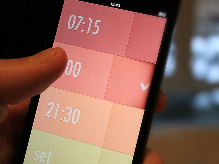 Alarm Clock interface by Rick Waalders