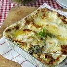 Grön lasagne med ricotta, spenat och pinjenötter