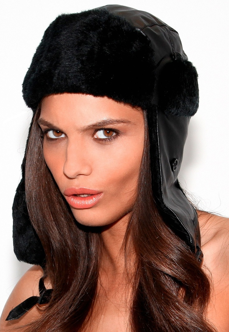 Owleta Leather Trapper Hat #MGWINTERWARDROBE