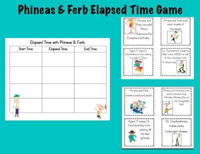 Phineas and Ferb free elapsed time game