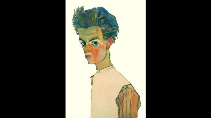 Self-Portrait with Striped Shirt (Credit: Credit: Self-Portrait with Striped Shirt/Egon Schiele/Wikimedia Commons)