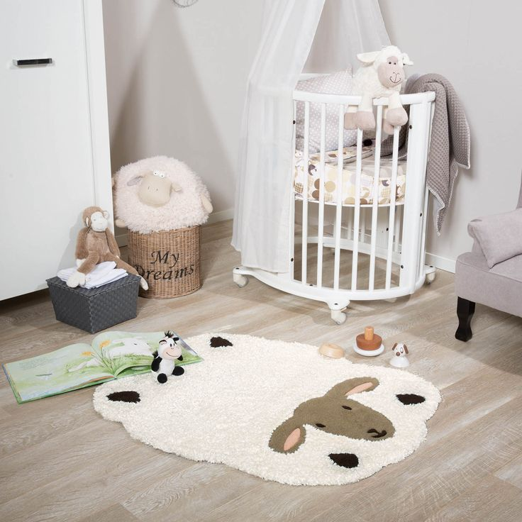 The Kids Line Rug Features A Sheep Design With Fluffy Coat And Is Very Por