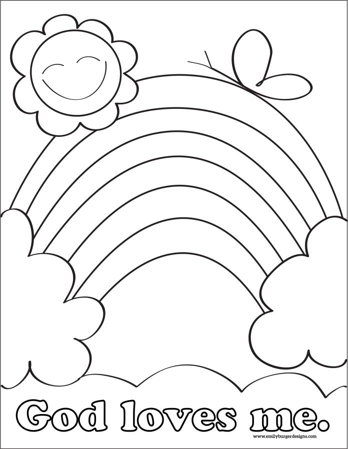 KIDS Print and color CCD Pinterest Sunday school
