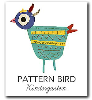 Kindergarten- explore lines and shapes then create a whimsical bird complete with fluffy feathers. Skill-building techniques such as tracing, cutting, coloring and gluing help with fine-motor skills. Book tie-in: Art by Patrick McDonnell