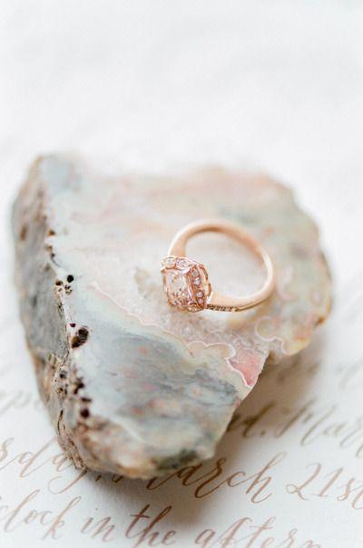 Rose gold ring with pink diamonds: http://www.stylemepretty.com/little-black-book-blog/2015/04/17/bohemian-desert-boudoir-session/ | Photography: Tamara Gruner - http://www.tamaragruner.com/