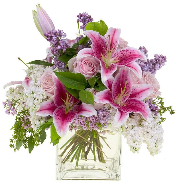 Spring Arrangement with Lilies by Flower Factor, via Flickr