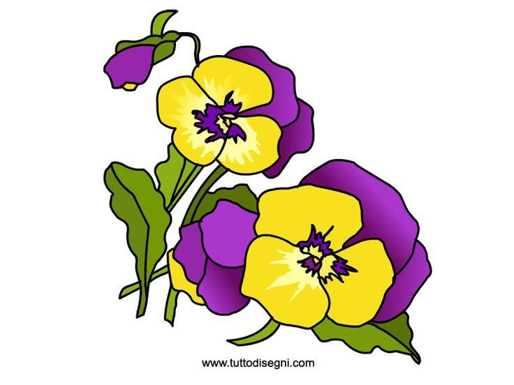 Fiori da stampare - Violette - TuttoDisegni.com