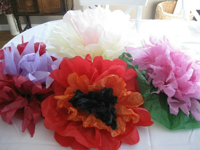 Огромные яркие  цветы из бумаги. Мастер-класс + видео  | Домохозяйка
