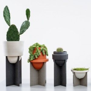 MPGMB's homeware includes terracotta  cacti pots based on desert forms
