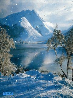 Снежные горы - анимация на телефон №810113