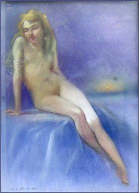 Nude sitting - Nicolae Vermont