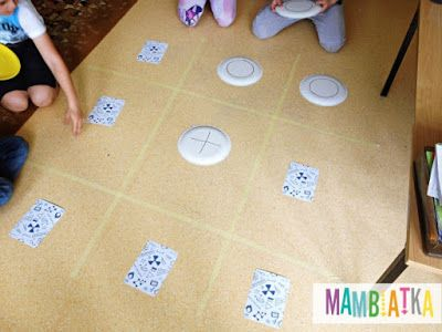 Mambiatka | English for kids | Resources for teachers and parents: Giant Tic-Tac-Toe with flashcards