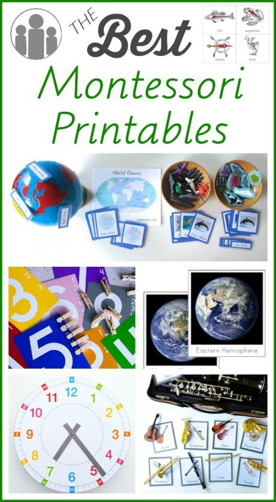Best Montessori Printables (many links to all kinds of printables including tons…