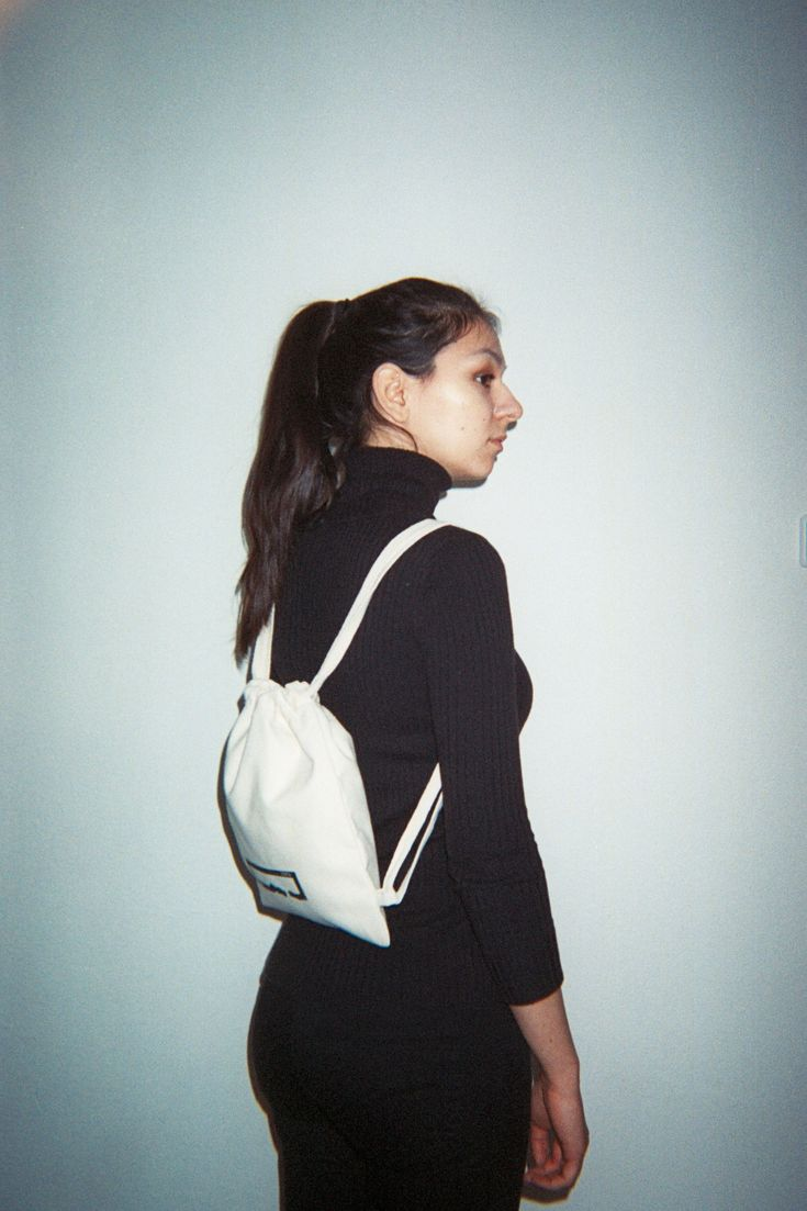 Mini-Vrecko in Natural. A more compact way to carry what you need.   #paktastudio #handmade #backpack #35mm