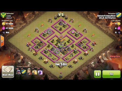 Clash of Clans TH8 vs TH8 Dragon Clan War 3 Star Attack ⋆ Clash of Clans 3 Stars Clan Wars