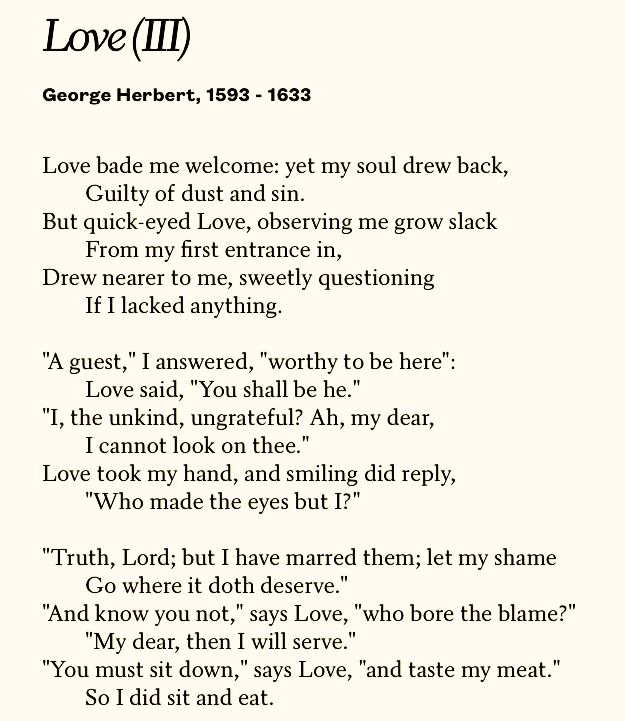 george herbert shaped poems The poems of john donne and george herbert are very different in their manner of using language, especially religious language donne is much more.