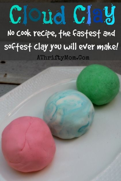 Cloud Clay recipe, only need two things to make this NO COOK recipe.  The fastest and softest clay you will ever make #Playdough, #Clay, #DI...Diy Playdough No Cook, Diy Clouds, Cornstarch Clay, Playdough Recipe No Cook, Diy Clay Recipe, Clay Diy, Homemade Clay Recipe, Clouds Clay, Corn Starch