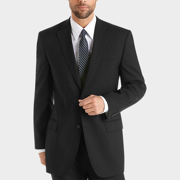 Joseph & Feiss Gold Two Pants Suit, Black | Men's ...