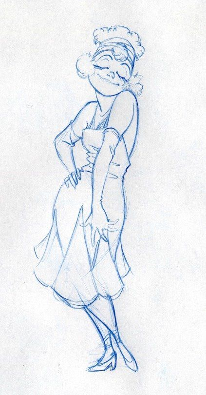 Female character design sketch by Randy Haycock