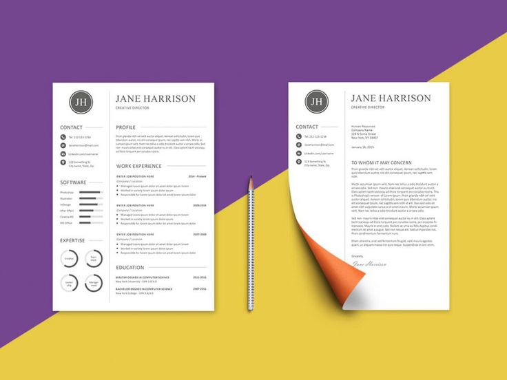 Free cover letter templates 25 free resume template and cover letter with minimal design yelopaper Image collections