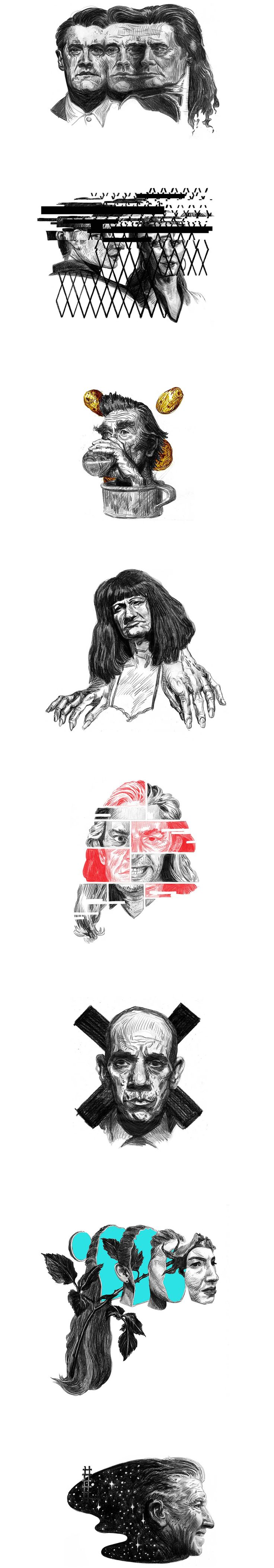 Portrait practice. Twin Peaks 2017. on Behance