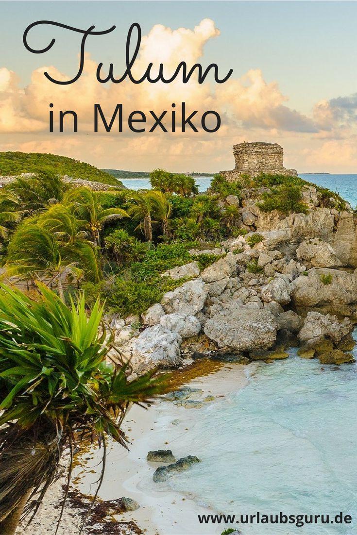 Tulum ist ein wunderschönes Ziel für einen Urlaub in Mexiko - hier gibt es traumhafte Strände zum entspannen und spannende Maya-Kulturstätten zu entdecken!