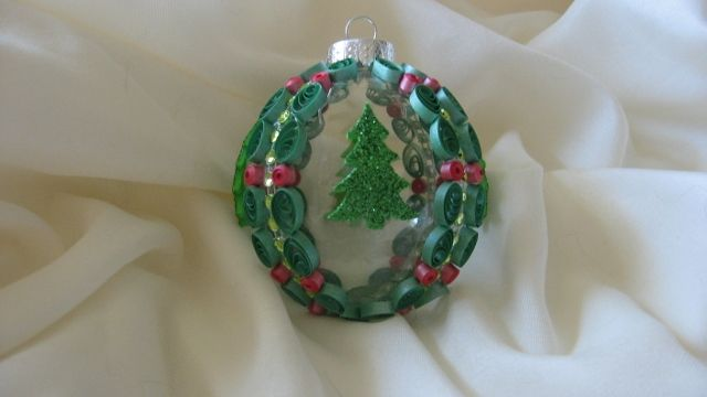 """Paper quilled """"Christmas Trees"""" ornament"""