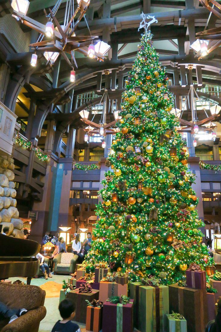 The beautiful Christmas tree at Disney's Grand Californian Hotel and Spa.