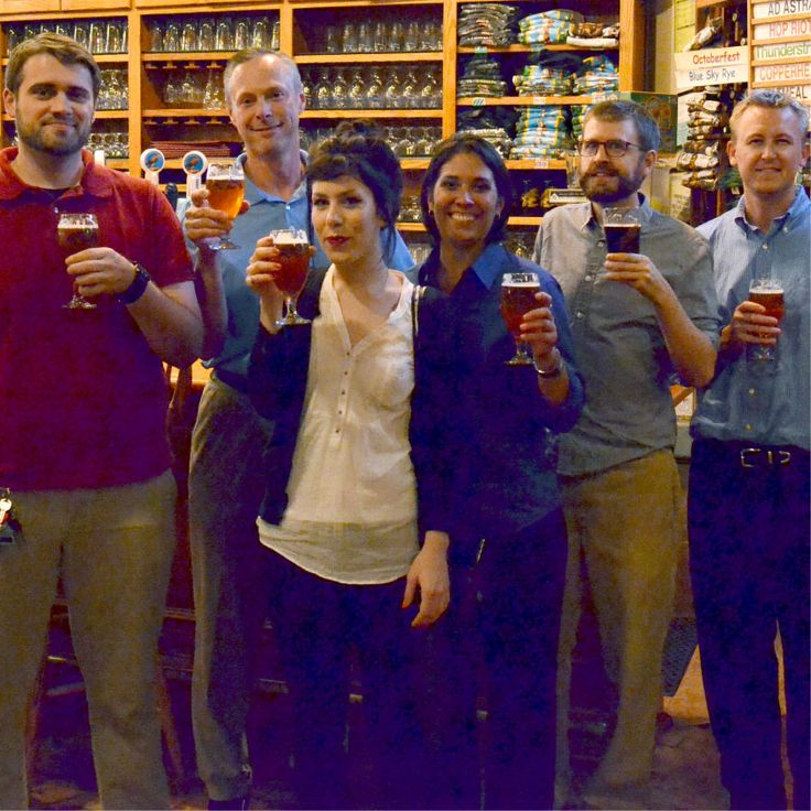 Raising a glass to toast National Drink Beer Day with our friends at Free State Brewing. Cheers! #craftbeer #beer #brewery #brew #drinks #grandstand #egrandstand #glassware