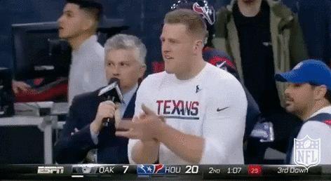 New party member! Tags: football nfl applause clapping clap houston texans texans watt jj watt j.j. watt