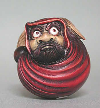 Daruma San in Japan, Japanese Art and Culture (01): Netsuke with Daruma