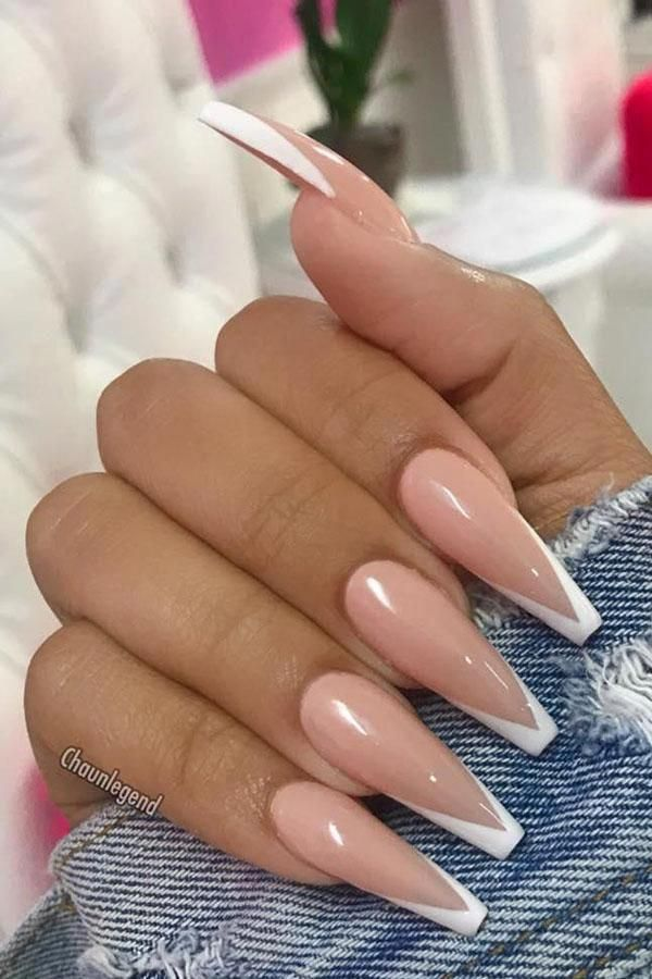 60 Popular Glitter Coffin Gel Nails Ideas You Will Love Baby Pink Nails Acrylic Pink Nails Baby Pink Nails