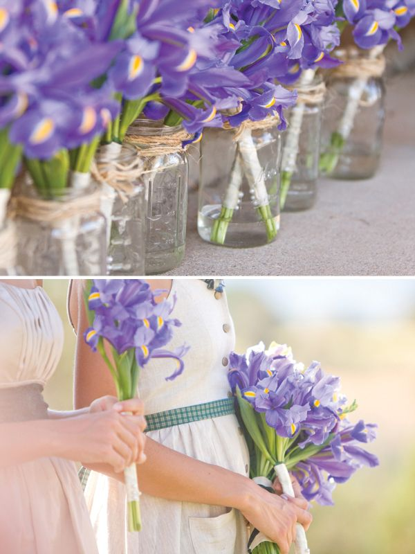 Purple iris bouquets, so wonderful!