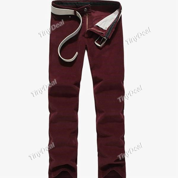 2014 Spring/Autumn Fashion Personality button Cotton Casual Purity Corduroys Longs Trousers for Boy Men DCD-362305