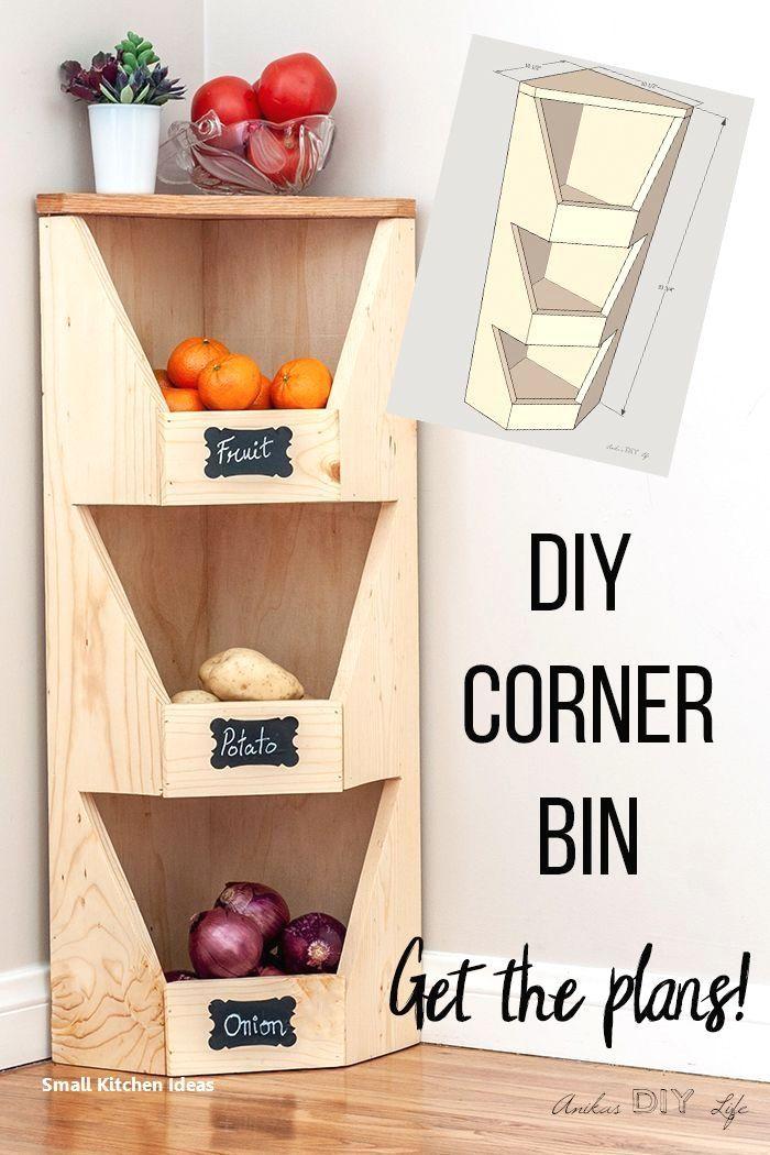 Home Decor On A Budget Diy Small Kitchen Tips And Hacks Kitchen Kitchendecor Home Decor On A Bu In 2020 Diy Vegetable Storage Vegetable Storage Bin Vegetable Storage