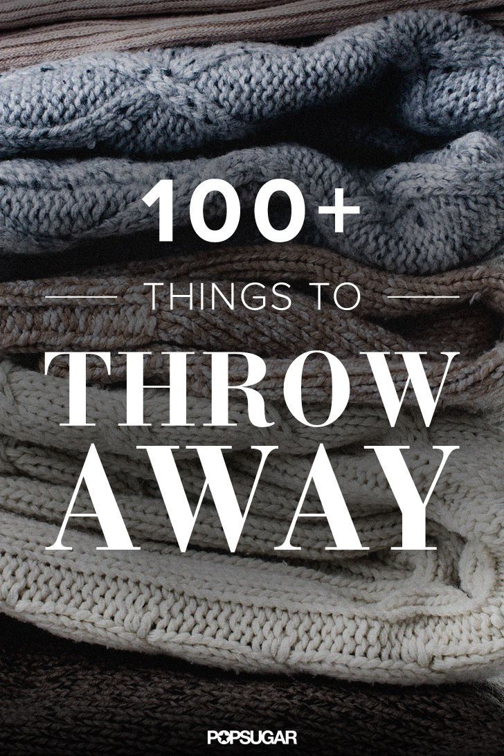 Cleaning out clutter can be a tough task, especially if you have been letting it build up for a while. Instead of setting aside a huge block of time to take care of months' or years' worth of clutter, take baby steps by throwing away only one type of item a day.