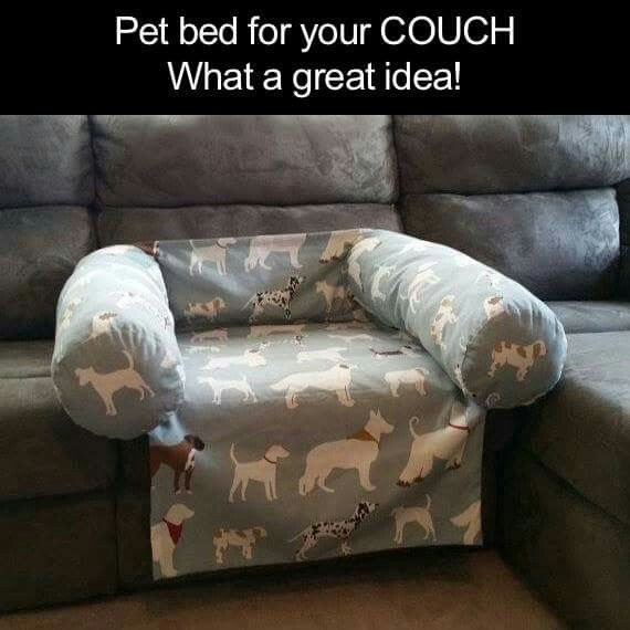 Pet bed for the couch