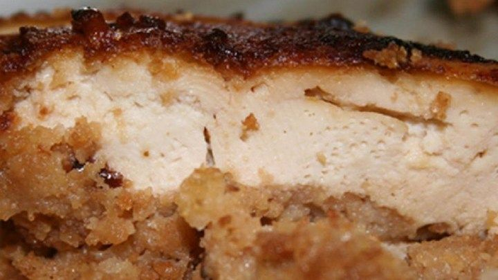 This is so darn clever and tasty, we know you'll want to give it a try. A shell of tofu is prepared and filled with an incredible stuffing and a layer of tofu on top. This amazing package is inverted  - carefully  - onto a baking sheet, and the edges sealed.