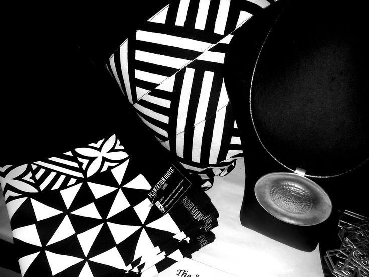 """The """"Ali'i"""" (High Chief) Collection..... """"Black & White"""" strikingly elegant pieces which will add presence to your living environment. In Store at Plantation House Samoa."""