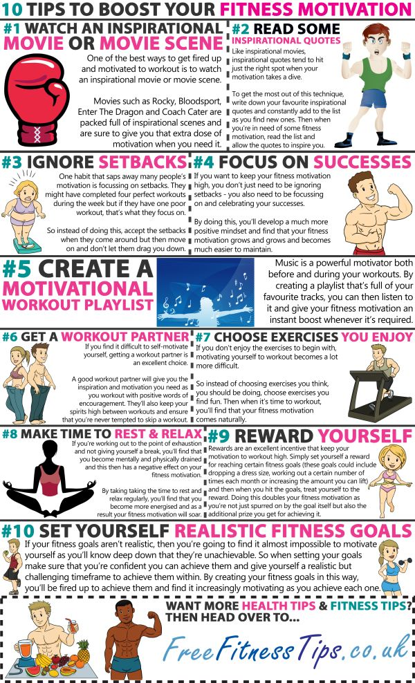 10 Tips To Boost Your Fitness Motivation