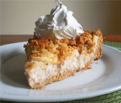Apple Crisp Cheesecake...my food board is turning into a ...
