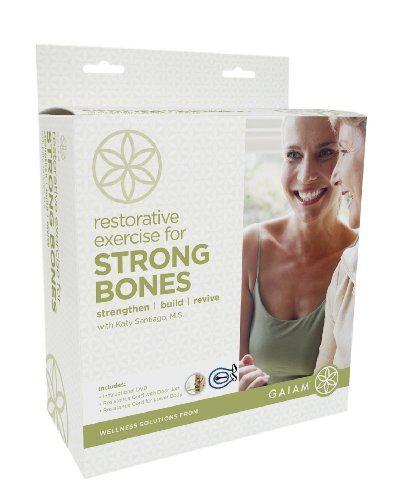 Gaiam Restorative Exercise For Strong Bones Kit With Katy Santiago $29.98: Bone Strengthening Exercise, Restorative Exercise, Katy Santiago, Bone Health, Santiago 29 98, Strong Bones, Gaiam Restorative, Bones Kit, Santiago 23 98