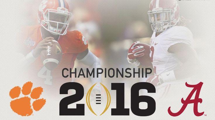 Championship 2016 Alabama vs Clemson #Alabama #RollTide #BuiltByBama #Bama #BamaNation #CrimsonTide #RTR #Tide #RammerJammer #CFBPlayoff
