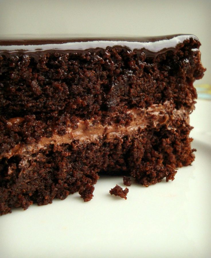Super Moist Chocolate Cake. Gluten free with cooked quinoa instead of flour of any kind. This will be your favorite chocolate dessert!